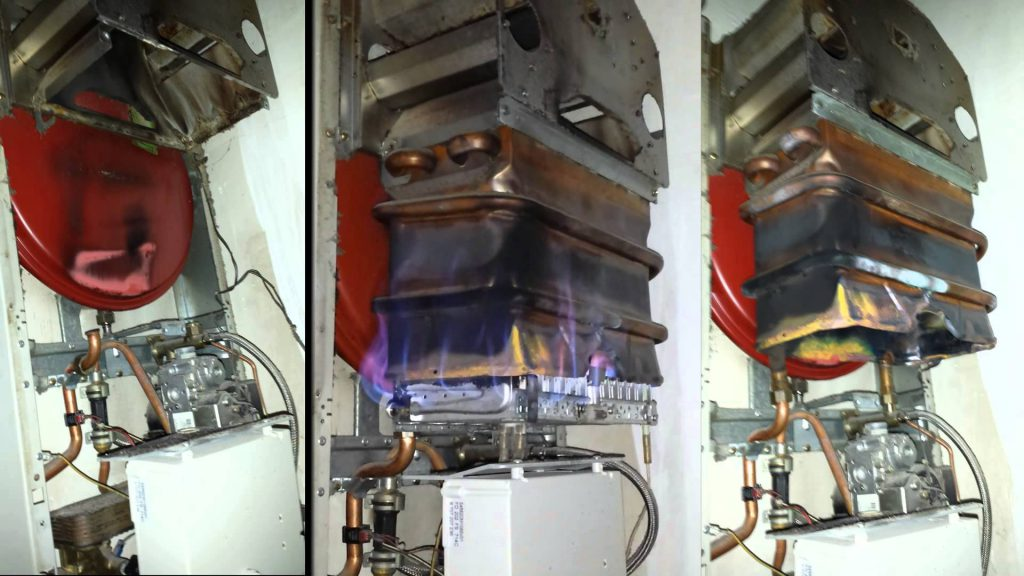 Ремонт теплообменника и медных трубок газовой колонки 63