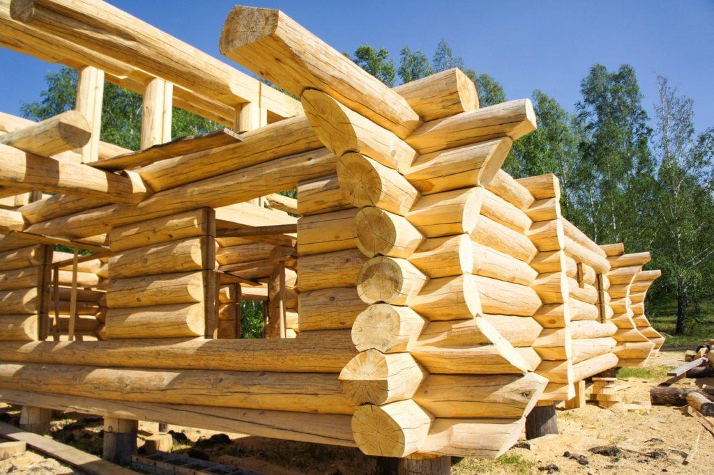 Способы строительства домов из бревен.