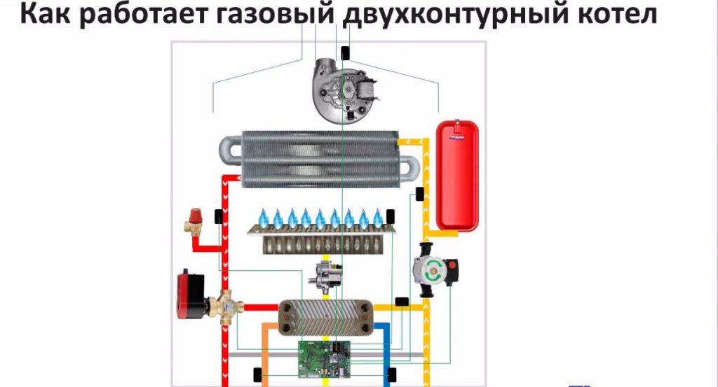 Как работает двухконтурный газовый котел