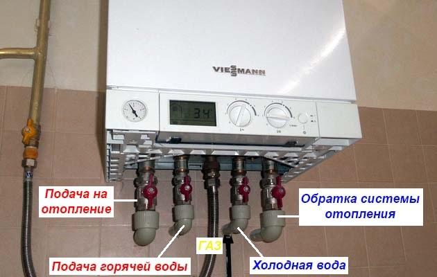 Как подключить двухконтурный газовый котел